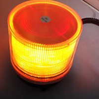 Wholesale 12 V Car Truck Magnetic Warning Flash Beacon Strobe Emergency light Amber