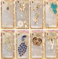 Wholesale Rhinestone Case For Apple Iphone s Iphone s New Arrival Crystal Diamond Hard Back Skin Mobile phone Case Protective Shell
