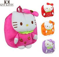 Wholesale Backpack toy Fashion New Arrival Color Y Hot Hello Kitty Bow plush backpack mochila children s backpacks toy for children