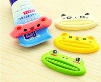 animal toothbrush - Creative Cartoon Cute Animal Multifunction Plastic Toothpaste Squeezer Toothbrush Holder Bathroom Dispenser Squeezing Tools