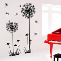 best wall beds - Best Promotion x70cm May My love Riding Dandelion Fly Large Flower Wall Stickers Home Bed Room Decor Art Decal Sticker
