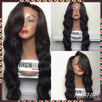 big knot ties - 100 Unprocessed Brazilian Virgin Hair Body Wave Glueless Human Hair Full Lace Wigs Black Women Lace Front Wig Bleached Knots