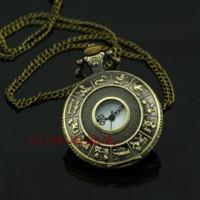 antique stop watch - A052 New Design Antique Bronze Tone Pendent Quartz Analog Pocket Watch pocket compass watch pocket stop watch