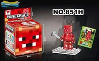 Wholesale 2015 New arrive Crystal Minecraft Building Block Toys Best Gift