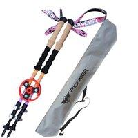 Cheap Wholesale-2015 Ultra-light 100% Carbon Fiber Nordic Walking Cane Walking Sticks Trekking Poles Telescopic Sticks Alpenstocks with bag