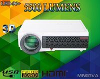 Wholesale High Quality Lumens LED Projector P D Full HD LCD Home theater TV Beamer