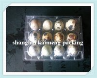 egg container - Quail egg tray Portable Plastic Egg Box Container Carrier Holder Case plastic clear quail egg container