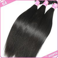 Cheap AiS 6A Brazilian Straight Wave Hair Hot Selling Virgin Brazilian Hair 3 bundles 100% Human Hair Machine Made Double Weft Hair Extensions