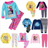 pajama - 5PCS New Frozen Kids Boys Girls Sleepwear Pajama Pyjama Set Clothes For Age Years DH04