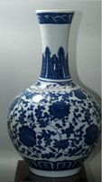 porcelain vase - New Fine Old Blue and white China porcelain painted Ceramic vases inches high Collectible Porcelain vases