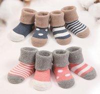 baby comb set - HOT autumn and winter style newborn combed cotton baby children warm knee high thicken socks set pairs