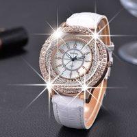 beauty hours - GOGOEY New Fashion Ladies Leather Crystal Diamond Rhinestone Watches Women Beauty Dress Quartz Wristwatch Hours Reloj Mujer