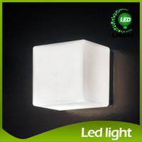 art deco brick - Indoor Wall Light Corridor Room Background Wall Light Ice Wall Lamp Glass Wall Lamps White Ice Cube Background Light Ice Brick Lamp