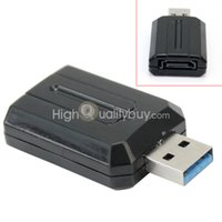Wholesale SATA to USB Interface Adapter Converter Black with LED Indicator Light New