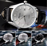 Wholesale Mix Colors men Dress Calendar Business watch Fashion Leather Beinuo watch WR013