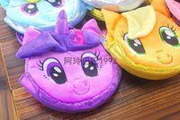 Wholesale EMS DHL FEDEX Color My Little Pony Plush Dolls Bags Boys Girls Laptop Bag Kids Birthady Gifts Children Cartoon Handbag Purse Totes I4175