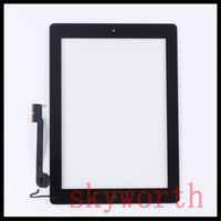 Wholesale For iPad Touch Panel Screen Glass Digitizer replacements With home button adhesive Complete Assembly DHL
