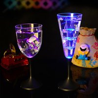 batteries wine bar - Detachable Led Cup Transparent Acrylic Wine Cup Champagne glasses Iced Tumblers Battery Included Bar Club Party Xmas Halloween
