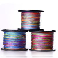 Wholesale 500m Fluorocarbon Fishing Line PE Braided line Multicolour Strands Thin Vertical Strong Pull Fishing Tackle FHG_304
