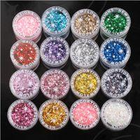 Wholesale profession nail glitter laser powder x6 Colorful paillette for UV GEL nail polish bright