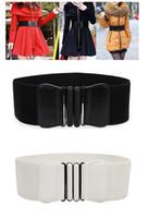 al por mayor cinturones anchos-Las ventas calientes mujeres de señora elástico de imitación de cuero de la hebilla de la cintura ancha de la pretina de las correas del estiramiento de la cincha (fx296) envío gratuito
