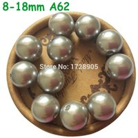 Wholesale Abs8mm mm ABS Acrylic Silver Imitation Pearls Loose Beads Fit for Jewelry Making Accessories Jewelry Findings beads
