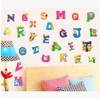 baby nursery stores - A B C D Alphabet Animals Wall Sticker Decals Decor children Decor Kids Peel and Stick Gifts for baby Nursery Store