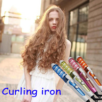 Wholesale New Useful Hair Salon Spiral Ceramic Curling Iron Hair Curler DIY Travel US EU AU UK Plug