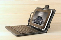 Wholesale Leather Keyboard Case with Micro USB Interface Keyboard for Q88 inch Black Universal Ipad Sumsang PC Protector Cover MID Tablet PC PCC015
