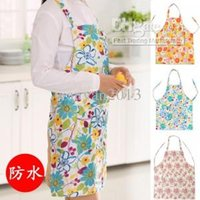 Wholesale Aprons waterproof Fashion creative cute kitchen aprons anti oil Pastoral Home Small floral pattern