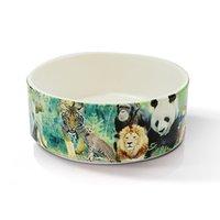 big dog photos - pc Big Dog Round porcelain bowl White Coated Ceramic Bowl pet bowl Creative Sublimation Bowl For Print Photo