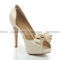 nude pumps - Fashion Nude Wedding Dress Shoes Sandals Stiletto Open Peep Pumps Heels Summer Women Office Evening Party Bridal Accessories Cheap