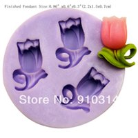 Cheap Cheap Small Flower Silicone Fondant Mold Gum Paste Cake Decorating Cake Topper Mould W38382