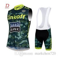 bank vest - 2015 Hot Tinkoff cycling jerseys all size cycling vest Saxo bank custom bicycle high quality new arrival Camouflage jersey bicycle pants