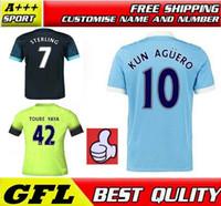 manchester - Sterling Soccer Jerseys Manchester city Home Wilfried Football Shirt Toure Yaya Silva Kun Aguero Away Black Nasri Futbol Camiseta