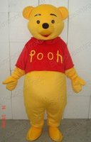 Winnie The Pooh Bear Mascot Costume Fancy Dress Taille adulte