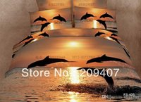 Wholesale Luxury Oil Painting Cotton D King Size Animal leopard wolf bird Dolphin Bedding Bed Set Duvet Covers