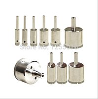 Wholesale 10 Diamond tool drill bit hole saw set for glass ceramic marble from MM order lt no track
