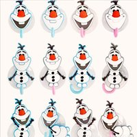 Wholesale Creative Bathroom Products OLAF Cartoon Gecko Toothbrush Toothpaste Holder Wall Sucker Suction Hook Tooth Brush Holder
