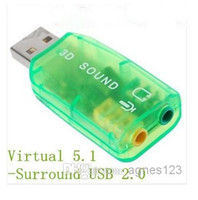 Wholesale Virtual Surround USB External Sound Card big sale