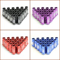 aluminium racing - D1 Spec Light Weight Wheel Nuts Wheel Lug Nuts Aluminium Alloy Racing Nuts Colors Red Black Blue Purple