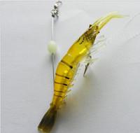 Wholesale 2015 of grams of soft bait cm extra weight shrimp hook eyes soft wiggler shrimp fishing lure