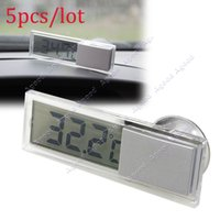 Wholesale 5pcs Suction On Car Windscreen Or Auto Rear View Mirror Digital Display Thermometer SV004071
