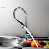Wholesale New Rotation Single tube Kitchen Faucet Chrome Sink Torneira Cozinha Cold Tap Single Handle b7