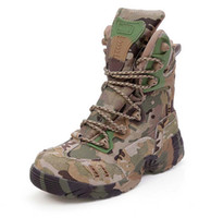 army camo fabric - Tactical combat Army Waterproof Multicam CP Camouflage Military Camo Boot Shoes for Outdoor Sports Climbing Hiking Traveling WSE