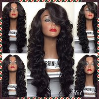 indian remy curly full lace wigs - 100 indian remy loose wave density Glueless Full lace wig Lace Front wigs Brazilian Virign human hair wigs