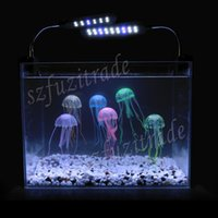 Wholesale Fish Tank Decoration Soft Silicon Glowing Simulation Effect Vivid Jellyfish Aquarium Artificial Jellyfish AIA00355