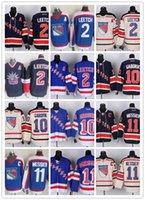 jersey shop - New York Ice Hockey Rangers Jerseys LEECTH GABORIK MESSIER BLUE WHITE drop shopping freeshipping