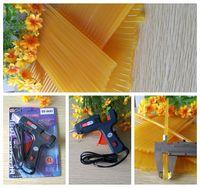 Wholesale Alternating current V New W Heating Hot Melt Glue Gun Pale yellow Glue Sticks For Art Craft Album Repair Tool