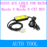 Cheap 2014 USB Aux adapter of MP3 WMA to Car CD player Stereo Aux-in Adapter Auxiliary Audio Aux Cable For Mazda 3 Mazda 6 CX7 MX5 MPV
